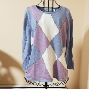 Alfred Dunner cotton and acrylic sweater size L